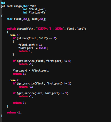 Pnscan's get_port_range Function