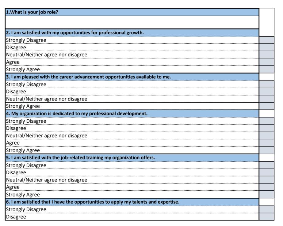 Employee Satisfaction survey.xls